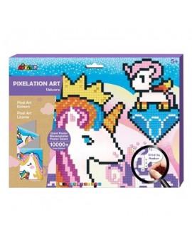 Avenir Pixel Art Licorne Mosaique