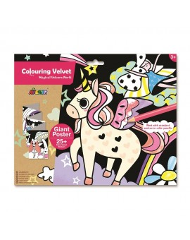 Coloriage Velour Licornes