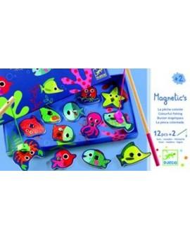 Djeco Pêche magnétique Pêche Colorée