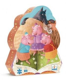 Djeco C.T. 24mcx 3 petits cochons