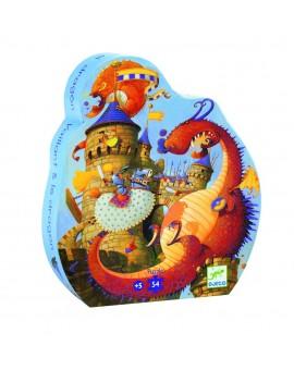 Djeco C.T. Silhouette 54 Pcs Vaillant et les dragons