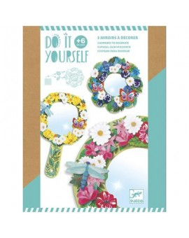 DJECO Miroirs à décorer : Douceur Florale (N20)