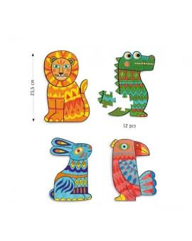 4 puzzles à colorier