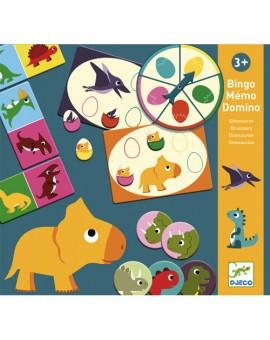 DJECO - Bingo mémo domino dinosaures