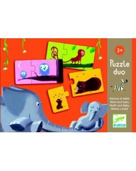 Djeco Puzzle Duo 12x2mcx Maman et bébé