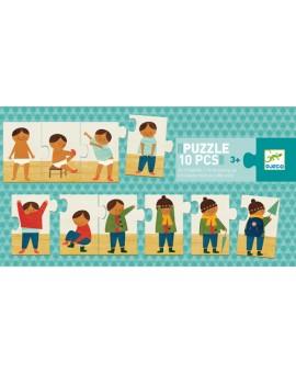 Puzzle duo / Je m'habille