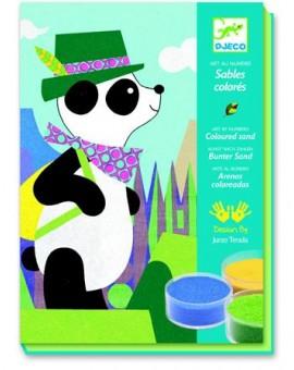 Djeco Sables colorés Panda et ses copains