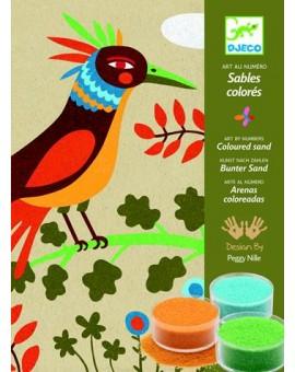 Djeco Sables colorés Oiseaux de paradis