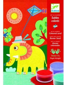 Djeco Sables colorés En Plein Air