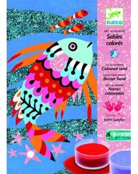 Djeco Sable coloré Arc-en-ciel de poissons