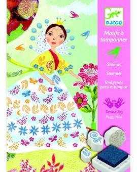 Djeco Motifs à tamponner Les demoiselles de Belles Fleurs