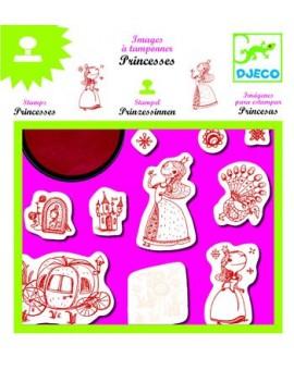 Djeco Images a tamponner - Princesses