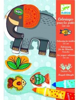 Djeco Coloriages pour les petits Zoo Zoo