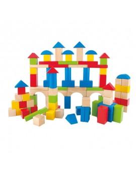 100 blocs colorés - Hape