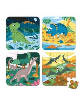 4-en-1 casse-tête progressif - Dinosaures
