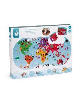 Carte du monde pour le bain