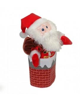 Marionnette Père Noël et Cheminée